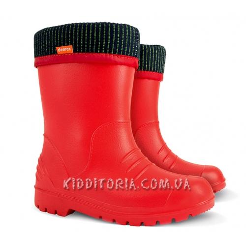 Суперлёгкие сапоги красного цвета (Арт.195-04)