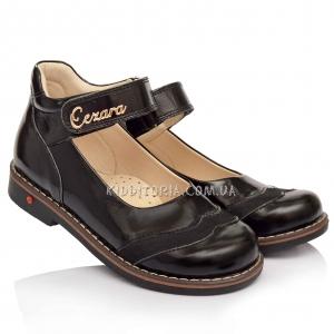 Туфли школьные черного цвета (Артикул 1826)