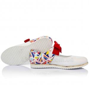 Эффектные туфли с ярким бантиком (Артикул 07-714)