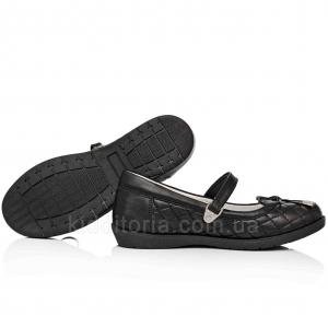 Школьные туфли с декоративной строчкой (Арт.020-1)