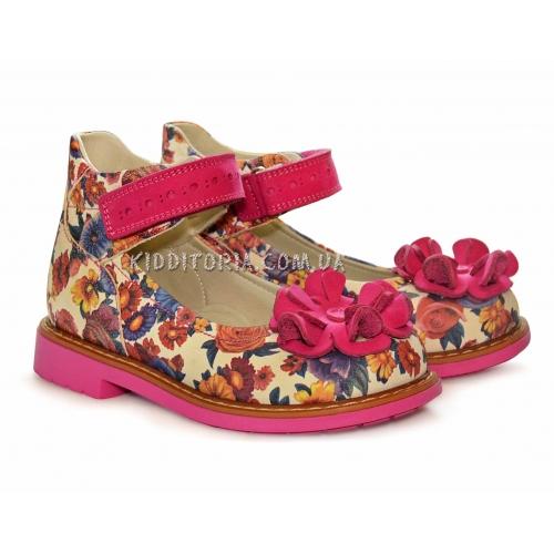 Туфли весенние с ярким цветочным принтом