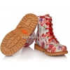 Ботинки с ярким принтом (Арт.144-4) на шнурках и молнии