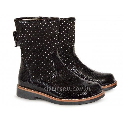 Ботинки черные из лакового кожи
