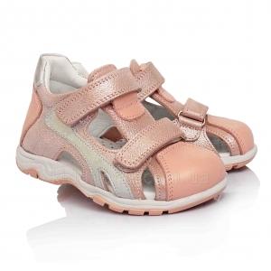 Босоножки нежно-розового цвета для девочки (Артикул 524-04)