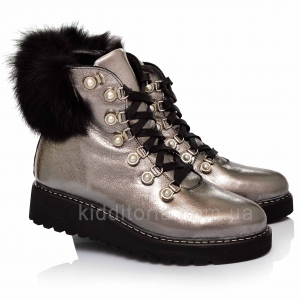 Зимние ботинки с меховой отделкой (Артикул 81-128)